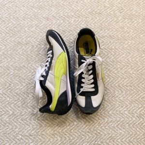Puma sneakers size 7- Navy, white and yellow.
